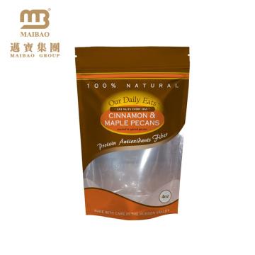 Auto plástico do zíper laminado claro da impressão feita sob encomenda que levanta-se sacos de empacotamento do malote para o alimento