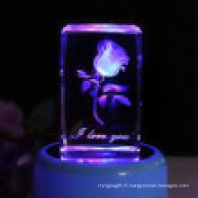 Rose intérieure avec support de lampe LED
