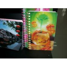 Cuaderno colorido de plástico lenticular 2015