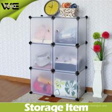 Bibliothèque modulaire de cabinet d'organisateur de stockage de 6 cubes avec beaucoup de couleurs disponibles