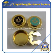 Botones masónicos personalizados Botón de cubierta metálica del botón