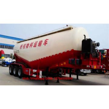 3 caminhão de reboque a granel do tanque de cimento do eixo 55-65CBM