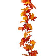 2016 Guirnalda popular de la hoja de oro de la hoja de arce del otoño