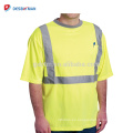 2018 Hi-Vis Lemon Security Camiseta Best Neon Yellow 100% Polyester Mesh Manga corta Cool Reflective Tees con 1 bolsillo en el pecho