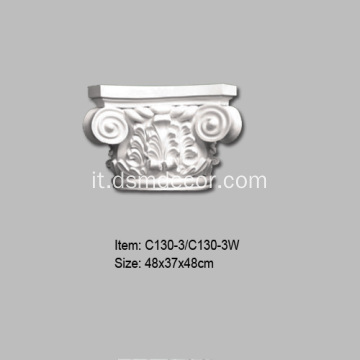 Capitelli con colonne ioniche decorative in PU