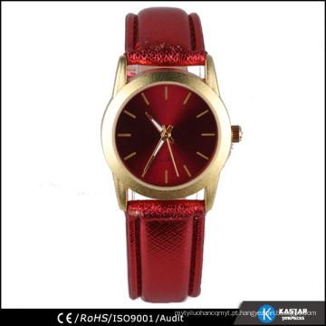 Senhoras relógio chinês cinto de couro