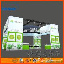 stand d'exposition de double étage deux étages stand d'exposition de stand d'exposition avec construction et service bulid