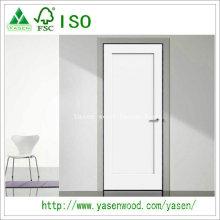 Porta branca de madeira do estilo do abanador do painel liso da fábrica