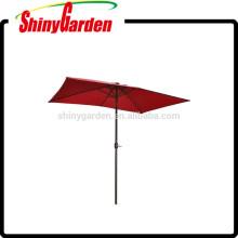 10' x 6.5' Rectangular Solar Powered LED Lighted Patio Umbrella