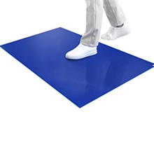 Wholesale 90*60cm Disposable Sticky Mat Cleanroom Blue Antibacterial Sticky Mat
