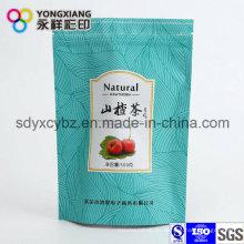 Stand up Aluminum Foil Doypack bolsa con cremallera para flores secas / té de frutas