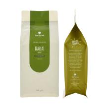 Reusable Zipper Zip Lock Biodegradable Food Grade Flat Bottom Pouch Plastic Kraft Paper Food Packaging Bag