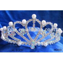 Baby tiara coroa pearl tiaras tiara display stand pérola casamento coroa tiaras
