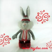 Plush Dress Rabbit Doll