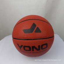 YONO brand high quality classic pu leather basketball custom basketball ball for training