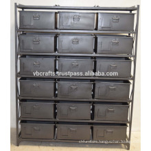Vintage Industrial Metal Drawer Cabinet