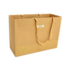 Factory Price Eco-friendly Twisted Paper Handle Kraft Paper Bag Custom Color Gift Coffee Cafe Shop Use