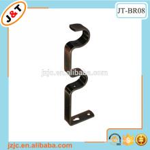 metal iron double curtain rod support bracket