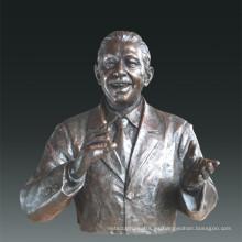 Gran figura estatua de Psicólogo Maslow Bronce Escultura Tpls-087