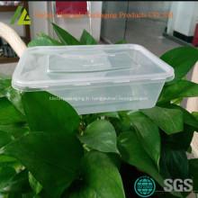 Rectangulaires petits contenants en plastique transparent de grade alimentaire