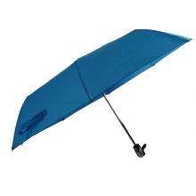 21 '' material de paraguas de mercado azul a prueba de viento 3 veces