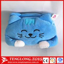 Cubierta decorativa de la caja del tejido decorativo del gato lindo