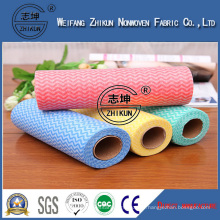 Impregnated Wave Pattern Spunlace Nonwoven Fabric for Cleaning