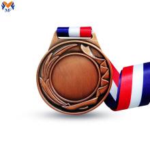 Médaille de cuivre vierge pour la gravure