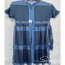 Vestido maxi estampado 100% poliéster para mujer