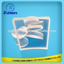 Fenêtre en verre optique au fluorure de calcium Caf2