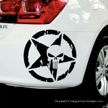 Size 13Cmx13Cm Punisher Skull Head Car Styling Custom Car Body Sticker Paper