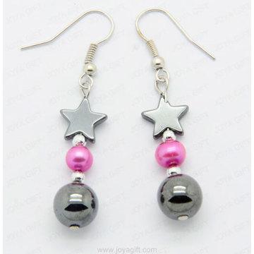 Boucles d'oreilles en perles d'hématite