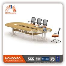 (MFC) HT-24-43 cadre moderne d'acier inoxydable de table de conférence pour des tables de conférence de 4.3M à vendre