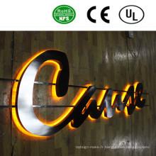Signe de lettre lumineux de canal acrylique éclairé par dos de LED