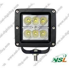 Square 6PCS * 3W CREE 18W LED Off Road Nebelscheinwerfer für 4X4, ATV, Boot, SUV