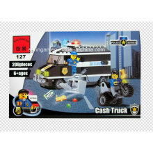 Polícia Series Designer Bill Coletor Cash Truck 209PCS Blocks Brinquedos