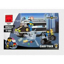 Polizei Serie Designer Bill Collector Cash Truck 209PCS Blocks Spielzeug
