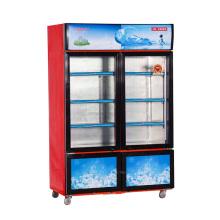 868L Вертикальная раздвижная двойная стеклянная дверца Двойная температурная витрина