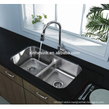 32 inch American cUPC Stainless steel Undermount Low Divider Kitchen Sink with double bowl