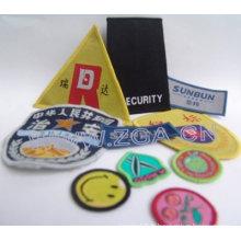 Badge brodé, étiquette de vêtement