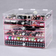 Organisateur de maquillage de cube acrylique abordable et bon marché