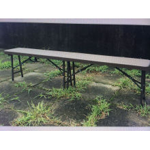 6FT Modern Rattan Plastic Folding Bench Park Bern