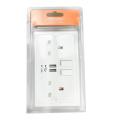 Double prise murale USB UK Plug