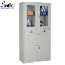 Móveis de escritório de alta qualidade duas portas de aço armário de escritório feito em luoyang