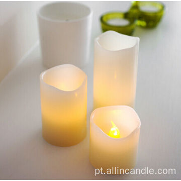 Vela LED de Controle Remoto Velas do Pilar LED