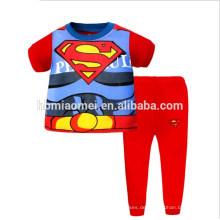Großhandelskinderkarikatur-Pyjamas stellt Baumwollpyjamas-Kinder Sleepwear ein