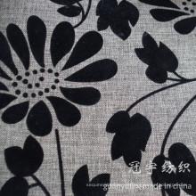 Tecido de linho de imitação reunindo tratamento para sofá