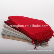 bufanda de cachemira mongol puro de tamaño estándar