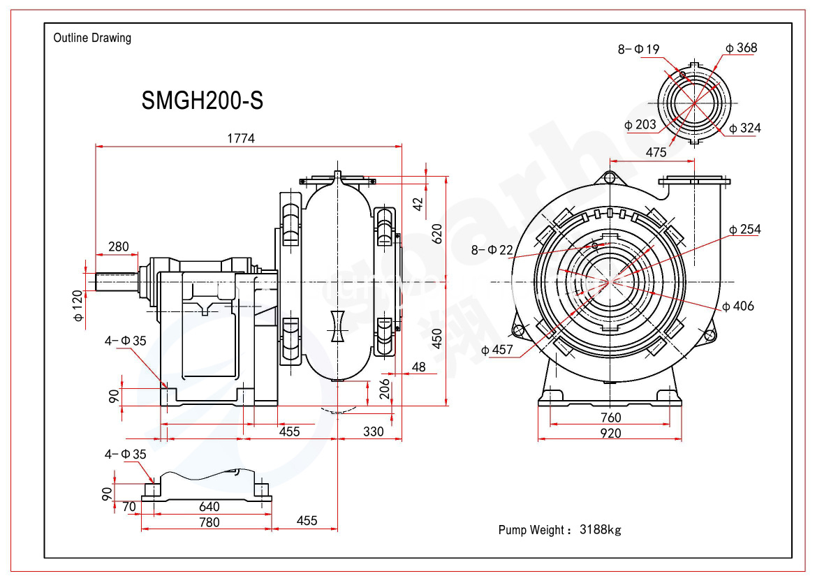 SMGH200-S outline drawing