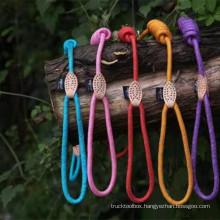 pet dog collars leashes luxury nylon custom eco nylon rope organic pet leash